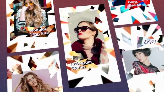 Instagram Stories Glass: After Effects Templates