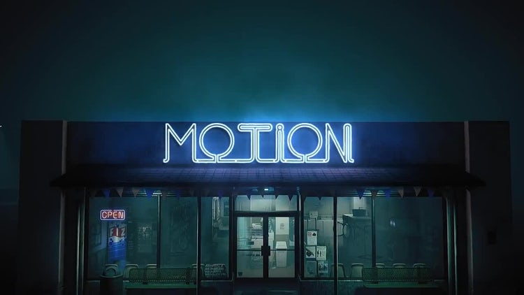 Epic Neon In The Night Street: After Effects Templates