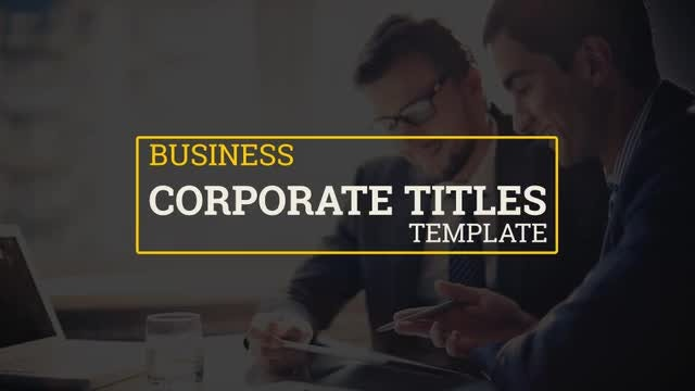 Minimal Corporate Titles Pack: After Effects Templates