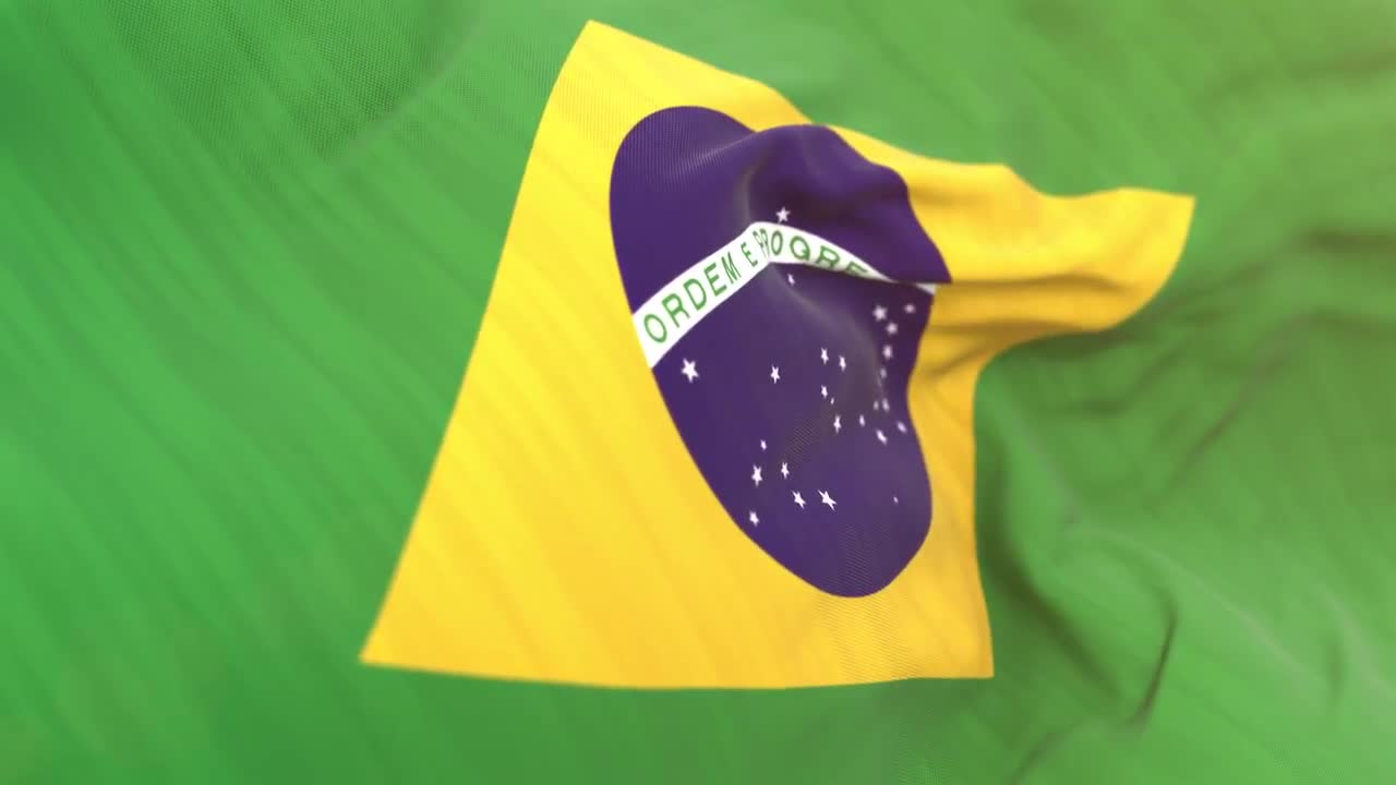 a5aa7f91c211 Brasil Flag Close-up - Stock Motion Graphics