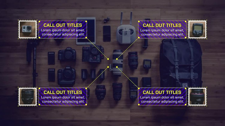 Glitch Call Out Titles 4k: Premiere Pro Templates