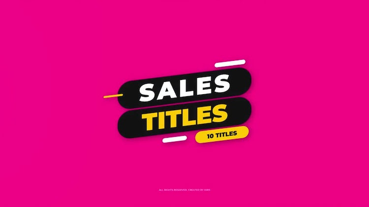 Sales Titles: After Effects Templates