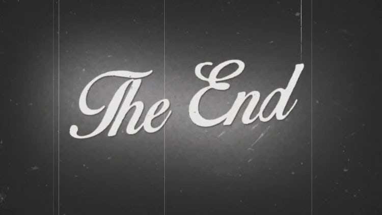 The End Old Film Background: Stock Motion Graphics