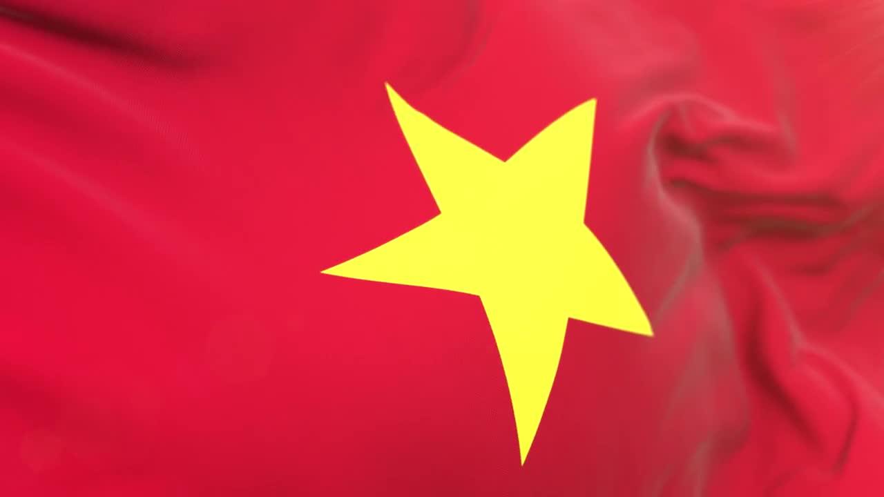 6b971a97fb5c Vietnam Flag Closeup Loop - Stock Motion Graphics
