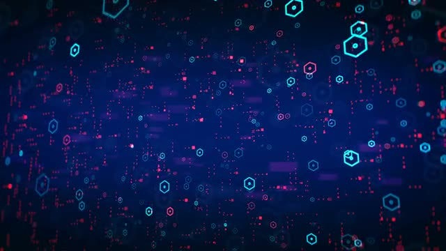 Big Data Background: Stock Motion Graphics