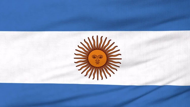 148a095ce836 Argentina National Flag - Stock Motion Graphics