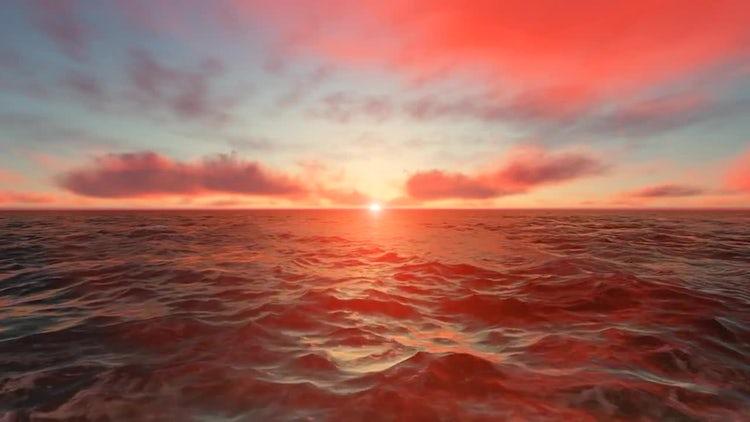 Ocean Sunset: Stock Motion Graphics