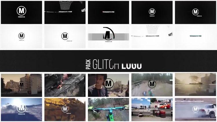 Glitch Logo Pack: Premiere Pro Templates