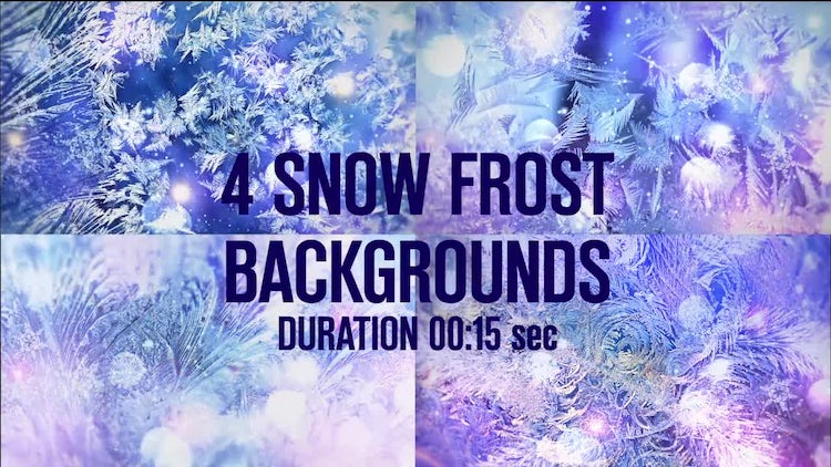 4 Snow Frost Backgrounds: Stock Motion Graphics