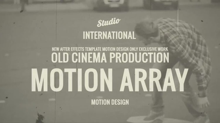 Old Cinema Love Story - After Effects Templates | Motion Array