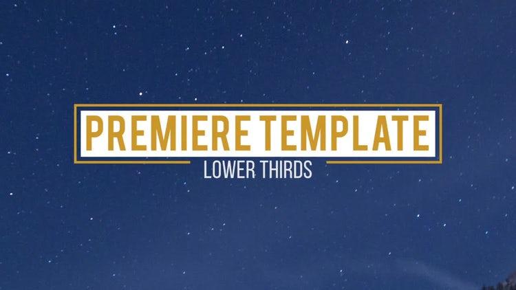 10 Lower Thirds: Premiere Pro Templates