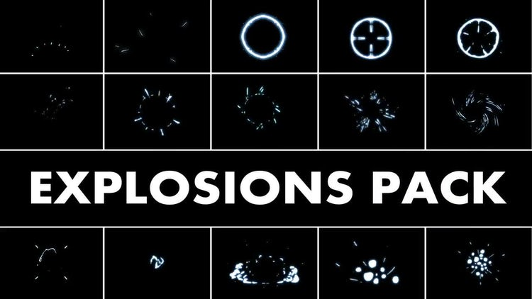 Explosion Elements Pack 2: Motion Graphics