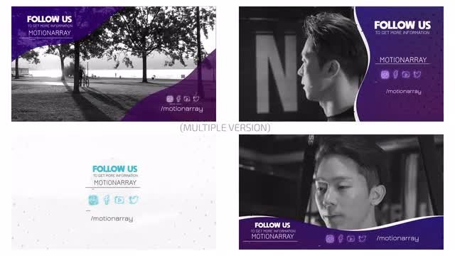 Social Outro Pack: After Effects Templates