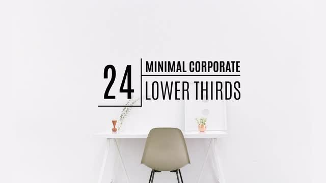 24 Minimal Corporate Lower Thirds: Motion Graphics Templates