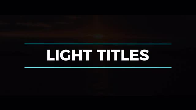 Light Titles & Lower Thirds: Motion Graphics Templates