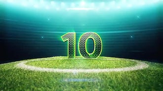 Soccer Top 10 Countdown Pack: Motion Graphics