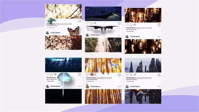 Hover On Instagram Posts: After Effects Templates