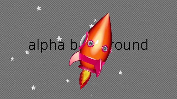 Cartoon Space Rocket 01: Stock Motion Graphics