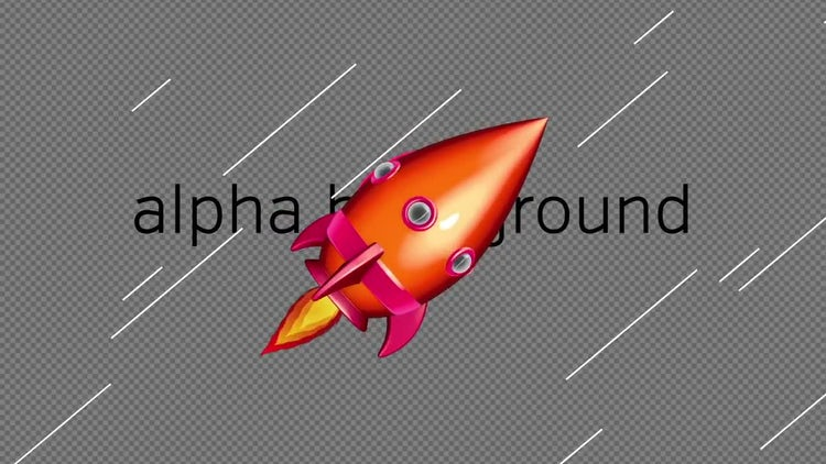 Cartoon Space Rocket 03: Stock Motion Graphics