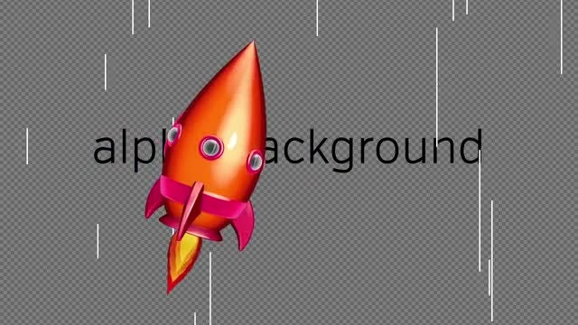 Cartoon Space Rocket 04: Stock Motion Graphics