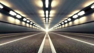Abstract Speed Highway Road Tunnel 01: Motion Graphics