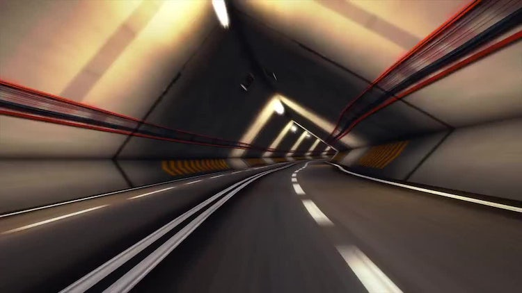 Abstract Speed Highway Road Tunnel 02: Stock Motion Graphics
