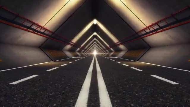 Abstract Speed Highway Road Tunnel 03: Stock Motion Graphics