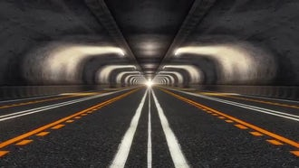 Abstract Speed Highway Road Tunnel 05: Motion Graphics
