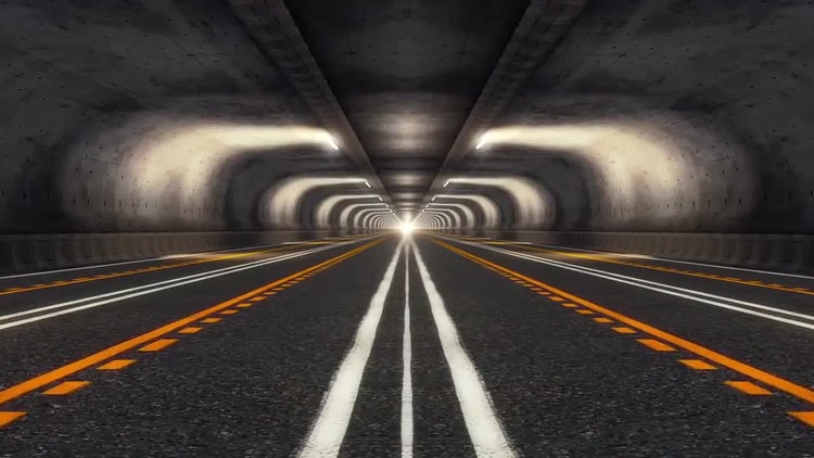 Abstract Speed Highway Road Tunnel 05: Stock Motion Graphics