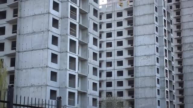Unfinished Building Construction: Stock Video