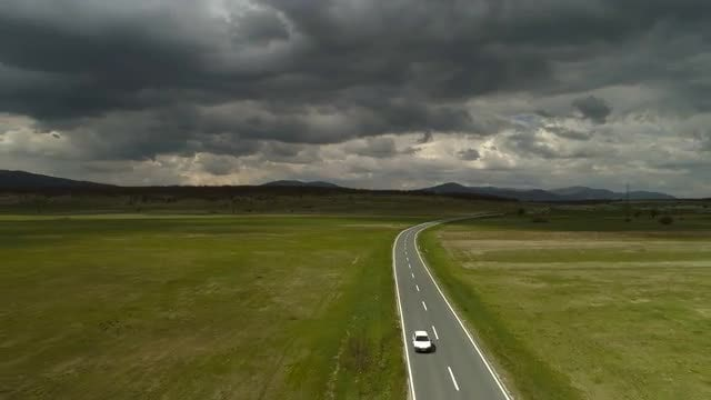 Aerial Of A Highway: Stock Video