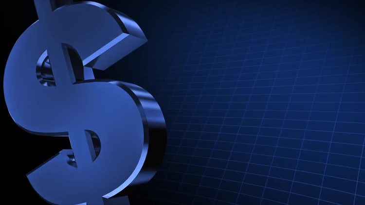 4K Money Sign 01: Stock Motion Graphics