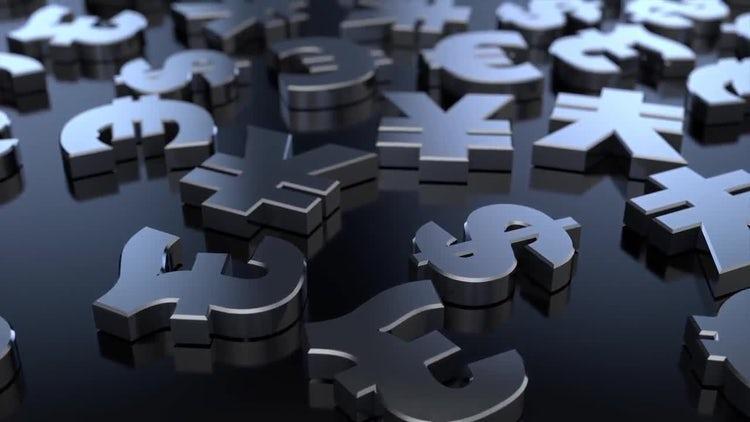 4K Money Sign Symbols 02: Stock Motion Graphics