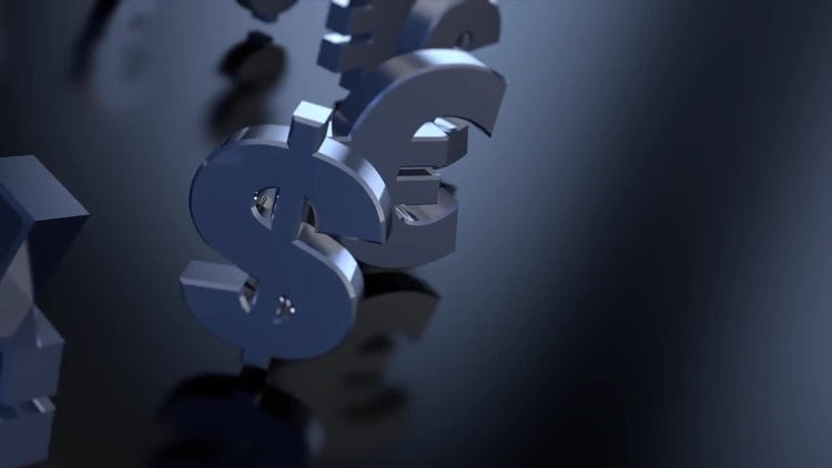 4K Money Sign Symbols 03: Motion Graphics