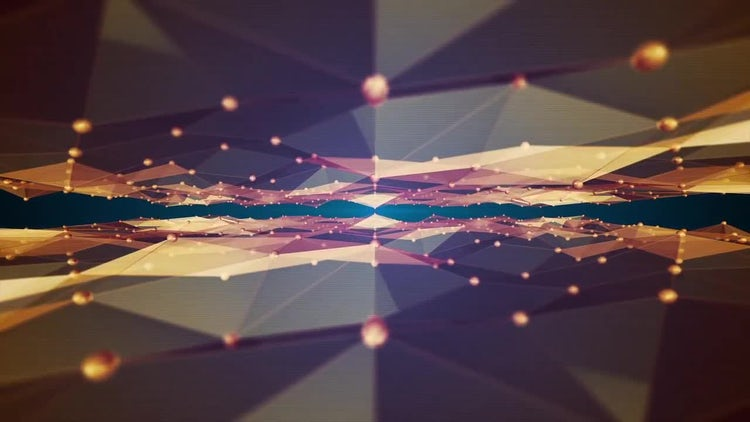 Abstract background - Polygon waves: Motion Graphics