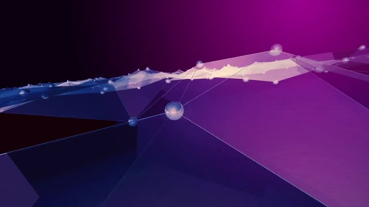 Abstract Polygon waves dolly: Stock Motion Graphics