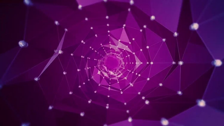 Abstract Circular Polygon waves: Stock Motion Graphics