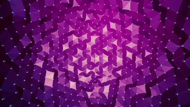 Abstract Background - Polygon Waves 01: Motion Graphics