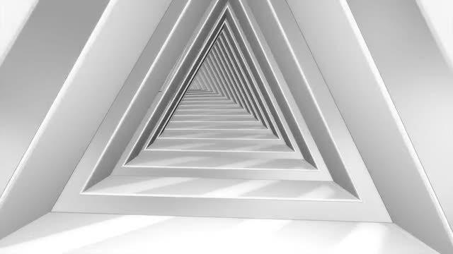 Futuristic Triangle Tunnel: Stock Motion Graphics