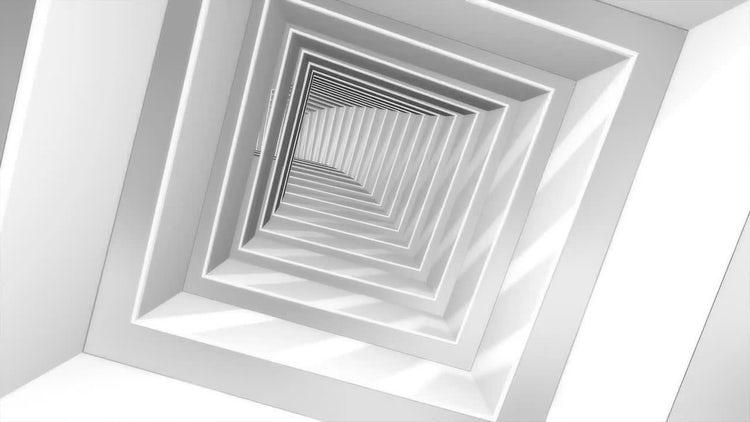 Futuristic Square Tunnel: Motion Graphics