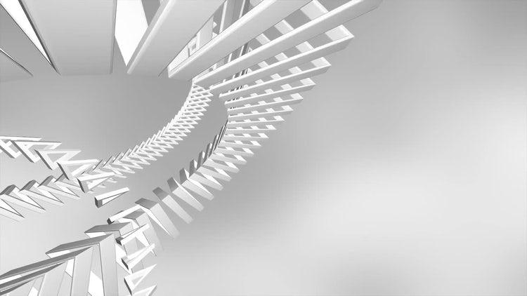 Futuristic Triangle Rings: Motion Graphics