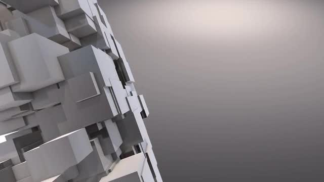 Moving Cubes Background: Stock Motion Graphics