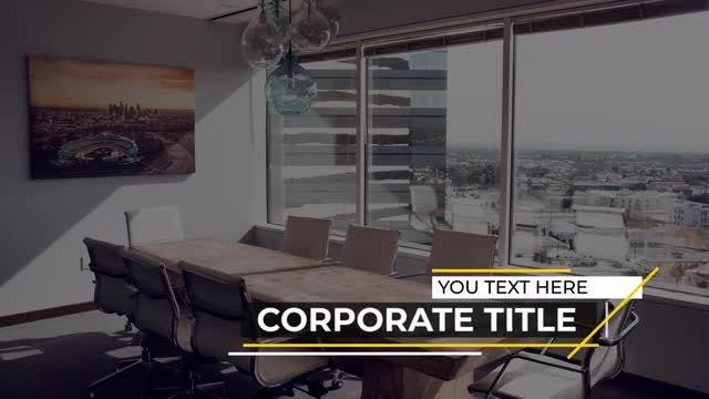 Corporate Titles: Premiere Pro Templates