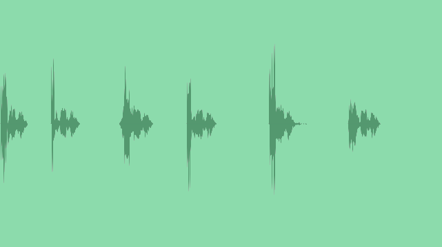 Minimalistic Pop Up Info-graphics: Sound Effects