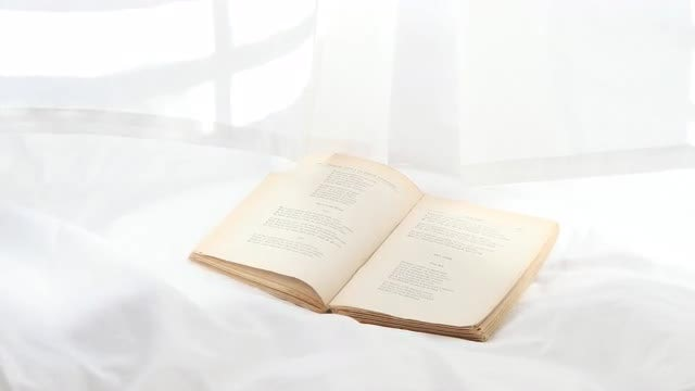 Book In Bright Room: Stock Video