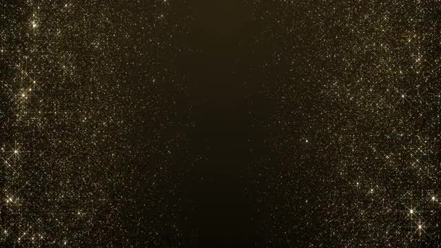 Gold Particles Meet Halfway: Stock Motion Graphics