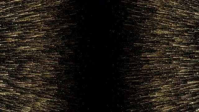 Gold Particles Towards Center: Stock Motion Graphics