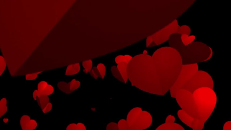 Fluttering Hearts: Stock Motion Graphics