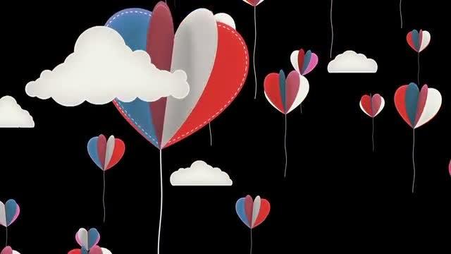 Swinging Hearts Background Animation: Stock Motion Graphics