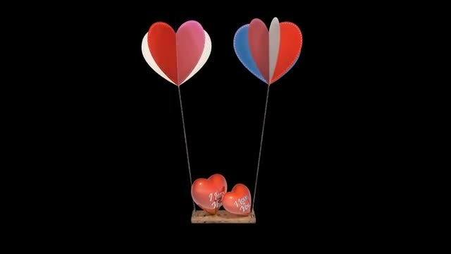Swinging Hearts Animation: Stock Motion Graphics